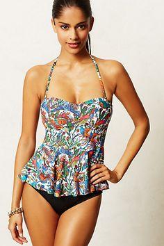Adorable swim suit  Mix & Match Peplum Tankini Top - anthropologie.com