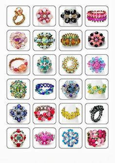 Album Archive - Perlines nº 4 (anillos) Tutorial Anillo, Diy Rings Tutorial, Diy Beaded Rings, Beaded Earrings, Beaded Bracelets, Jewelry Making Tutorials, Beading Tutorials, Beading Patterns, Bead Jewellery