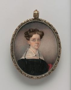 Portrait of a Lady  Date: ca. 1835. I absolutely LOVE this portrait. So adorably sweet. Like something out of Jane Austen's books. Though the date is a little past the time.