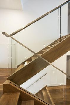 Glass Balustrade for Stairs . Glass Balustrade for Stairs . Glass Staircase and Void Balustrade Stair Handrail Wall Mounted, Glass Stair Balustrade, Modern Stair Railing, Staircase Handrail, Balustrades, Modern Stairs, Railing Design, Staircase Design, Staircase Ideas