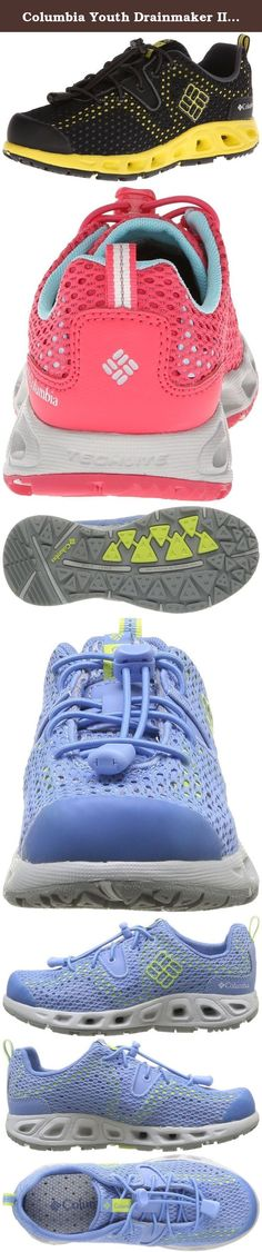 Columbia Youth Drainmaker II Hybrid Water Shoe (Little Kid/Big Kid). A quick drying, high traction shoe perfect for activites on land, in the water and everywhere else. Product Features: Techlite midsole with drainage ports in the heel and forefoot Omni-Grip high traction, wet rubber grip Single layer open mesh upper to give more breathability Siped with lugs for more traction Fully drainable footbed Upper: Breathable, single layer mesh Footbed/ Midsole : techlite technology Omni-Grip...