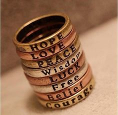 meaningful word rings
