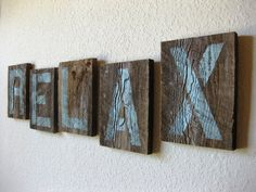 Reclaimed Barn Wood Letters in Soft Teal  by PhloxRiverStudio, $74.00