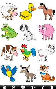 360 Sounds, Images & Spoken words of: Animals, Birds, Vehicles, Musical-instruments and Household items Language Development, Student Engagement, Speech And Language, Farm Animals, Wild Animals, Learning Activities, Cute Cartoon, Games For Kids, Kindergarten