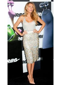 Blake Lively in Burberry Prorsum