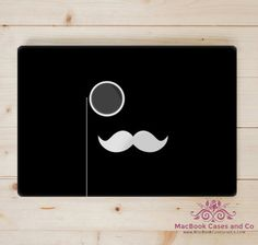 Moustache MacBook Case Top and Bottom Hard by MacBookCasesandCo
