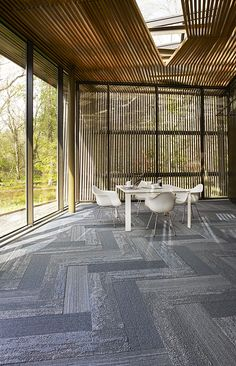 interfaceflor walk the plank wood look with the softness