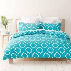 Image for Homemaker Tessa Print Quilt Cover Set - Queen from Kmart Teal Bedding Sets, Bedding Shop, Bedroom Decor For Teen Girls, Teen Girl Bedrooms, Teen Bedroom, Dream Bedroom, Home Bedroom, Bedroom Ideas, Bedroom Themes