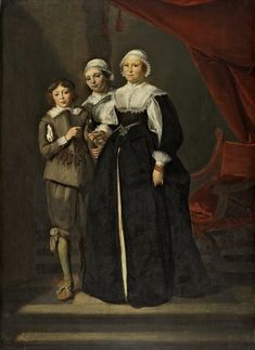 - Portrait of Two Women and a Boy. 1632 Oil on panel x cm Museo Thyssen-Bornemisza, Madrid 17th Century Clothing, 17th Century Fashion, Baroque Painting, Patterns Of Fashion, European Paintings, Dutch Painters, Baroque Fashion, Renaissance Art, Historical Clothing