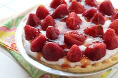 Making this for Memorial Day tommorow and adding a few blueberries ..Fresh and Fit Strawberry Pie..YUM