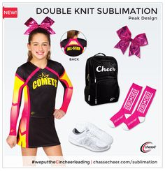 Double Knit Sublimation is a GAME CHANGER. Try this Peak Design at your next #cheer event!