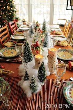 christmastable10h. from Pat at Back Porch Musings!