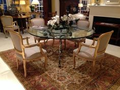 4 Chairs And Round Glass Table