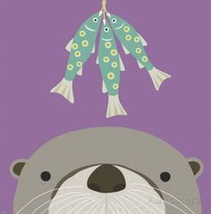 Peek-a-Boo Otter Poster by Yuko Lau at AllPosters.com