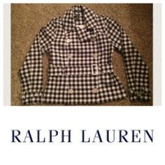 Ralph Lauren Checkered Spring Jacket This is stunning and a great addition to any Spring wardrobe. Size P/P (Petite Plus meaning shorter sleeves than average). See measurements laying flat: Bust 16.5 inches, waist 15.5 inches, hips 19 inches, length from back of neck 25 inches, sleeves from armpit seam 17 inches, sleeve from shoulder seam 23 inches. Ralph Lauren Jackets & Coats