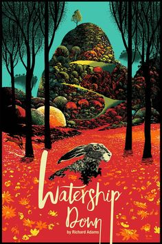 WATERSHIP DOWN print by Raid In the new episode of The Poster Boys, designers Brandon Schaefer and Sam Smith pick their favorite movie poster designs of all time. This first of a two-part series looks at the posters that captured their. Watership Down Movie, Omg Posters, Richard And Adam, Graphic Design Books, Art Watercolor, Portraits, Alternative Movie Posters, Alphonse Mucha, Illustrations