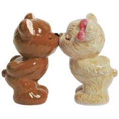 Teddy Bear Wedding Cake Topper Figurine