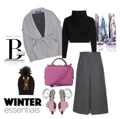 """""""B's winter essential"""" by bibi-b ❤ liked on Polyvore featuring Morgan, Balmain, Valentino, Yves Saint Laurent, Dolce&Gabbana and Giannico"""