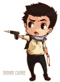 Nathan Drake- Uncharted 3 This picture is so freaking cute!!!