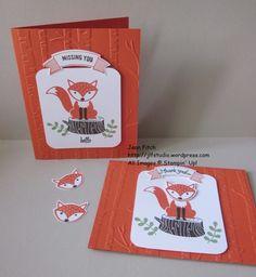Wacky Watercooler June Blog Hop - Foxy Friends in the Woodland Duet - Jean Fitch