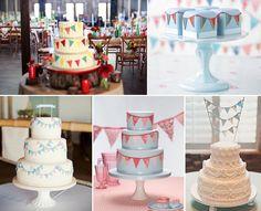 Bunting Themed Wedding Cakes