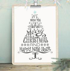 Kerstteksten voor aan de muur