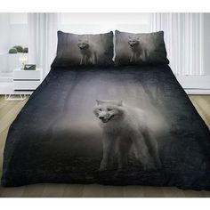 Wolf bedding set gray wolf duvet cover cotton sheets and matching... (67 CAD) ❤ liked on Polyvore featuring home, bed & bath, bedding, twin bed set, twin bedding sets, twin xl bed set, cal king bedding and king size bedding ensembles