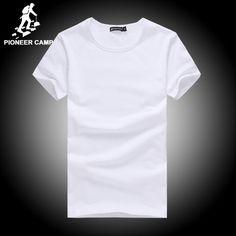 Pioneer camp綿tシャツ男性4xl 2017夏固体tシャツ男性カジュアルtシャツファッションメンズ半袖tシャツスリムフィット