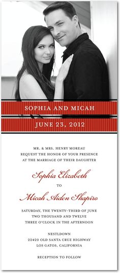 Signature white wedding invitations, Picturesque Bands #wedding www.BlueRainbowDesign.com