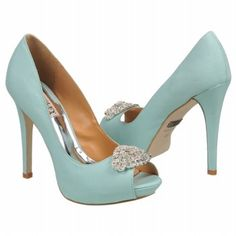 "Loving these Badgley Mischka Goodie Shoes! Visit AdvantageBridal.com for fabulous designer wedding shoes, couture bridal shoes and affordable bridal party shoes for every budget. The perfect hint of ""Something Blue!"""