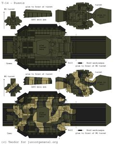 Russian T-14 Armata (3D Fold Up_