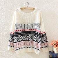 Invierno Pullovers mujeres Tricot suéter Sueter Jumper Casaco informal Burderry…