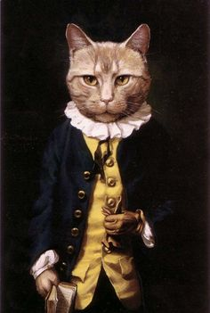 Want to memorialize your furry companion? You might discover that the world of pet-portraiture is far more eccentric than it once was. Animals Of The World, Animals And Pets, Cat Castle, Animal Dress Up, Monalisa, Cat People, Human Art, Animal Heads, Weird And Wonderful