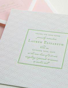jammies letterpress baby announcements Letterpress Baby