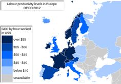 The labour productivity level of Germany is one of the highest in Europe. OECD, 2012