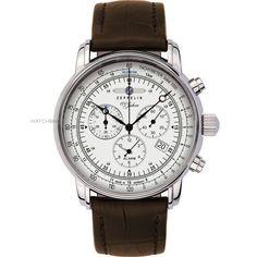 Zeppelin 100 Jahre Alarm Chronograph Watch 7680-1