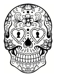Les 28 Meilleures Images De Coloriage Tête De Mort