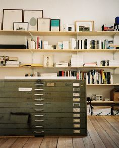 flat files and open shelves