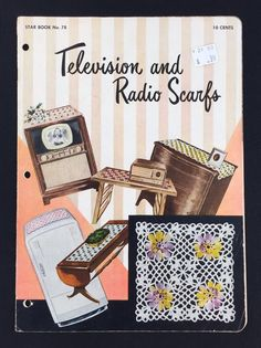 Vtg 1950 Television & Radio Scarfs Crochet Pattern Instruction Star Book No. 78 #Star