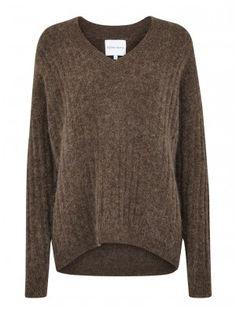 Ruba knit v-neck brown melange