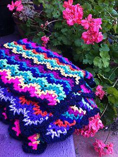 Ravelry: gieme's Vintage Crocheted Blanket