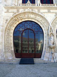 Train Station Door. Portugal