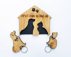 Home is where the Paws are <3  Fur kids key chain set by HALLO JANE