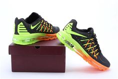 Nike Air Max 2015 Black Green Orange1