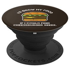 I'd Grow My Food If I Could Find Cheeseburger Seeds Funny PopSockets Grip and Stand for Phones and Tablets Gift Card Balance, Pop Socket, Design Seeds, Vintage Humor, Retro Design, I Foods, Birthday Gifts, Phones, This Or That Questions