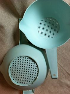 Vintage Tupperware Light Aqua Seafoam by PennyLadyDesigns on Etsy, $18.00
