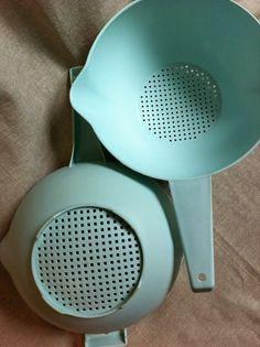 Vintage Tupperware Light Aqua Seafoam by PennyLadyDesigns on Etsy, $18.00
