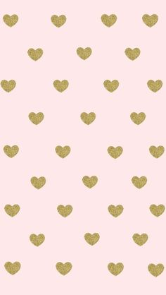 Blush pale pink and gold hearts iphone phone wallpaper background