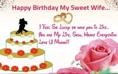 13 Romantic Images for Happy Birthday Wishes Quotes for Wife – Fashion Cluba Sweet Birthday Quotes, Birthday Message For Wife, Birthday Wishes For Wife, Romantic Birthday Wishes, Happy Birthday Ecard, Wish You Happy Birthday, Happy Birthday Wishes Quotes, Happy Birthday Greeting Card, Happy Birthday Images