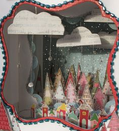 Christmas diorama--I love this! But I would make it out of a hallowed out book instead of a box.